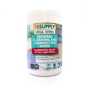 Disinfecting Wipes, 250 CT (Eliminates 99.9% Of All Bacteria)